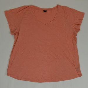 Torrid Plus 6 Orange   Blouse Cotton Blend Solid